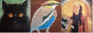 Hildegard, Vögel und Katzen